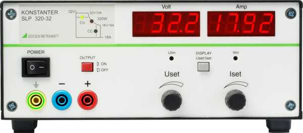 SLP 120 ... 320 Laboratory Power Supplies with Analog Control