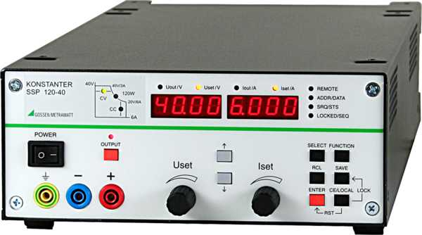 SSP 120 ... 320 Programmable Laboratory Power Supplies with Load-Independent Response Time