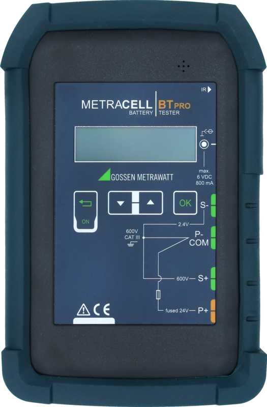 Mobile test instrument for evaluation, maintenance and inspection of battery systems and uninterruptable power supplies (UPS).