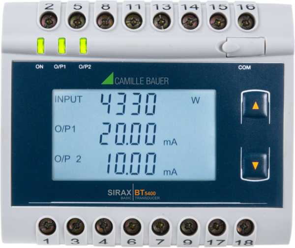 Measuring Transducer for Power, Power Factor and Phase Angle, RS485, LCD Display