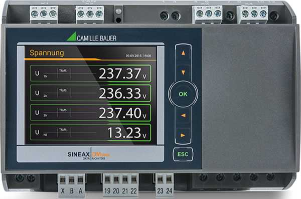 The SINEAX DM5000 is a compact instrument to measure and monitor in heavy current grids