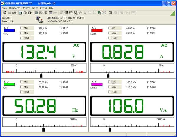 System software for METRAHIT multimeters