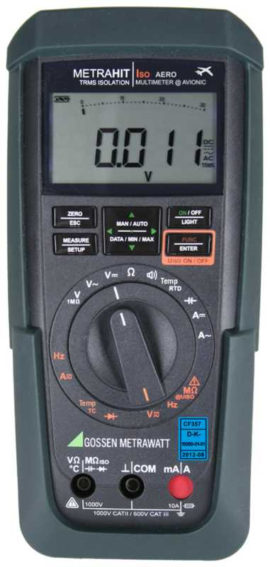 TRMS Multimeter with Insulation Measurement for Avionic Services, ±30,000 Digits