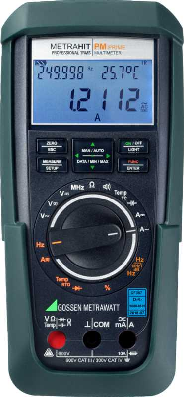 TRMS precision multimeter with 310,000 digits and IR interface