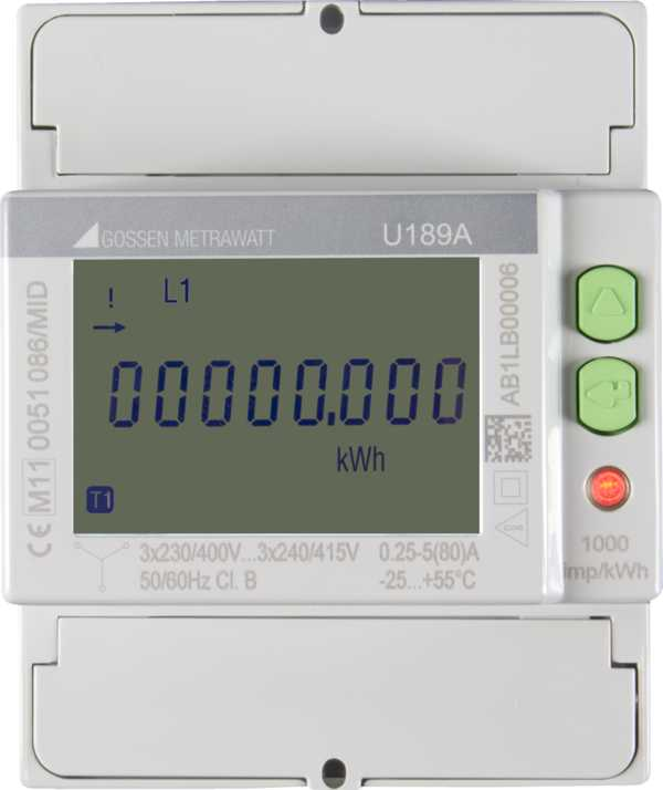 Energy Meters for 4 Quadrants, 2 Tariffs, Calibrated