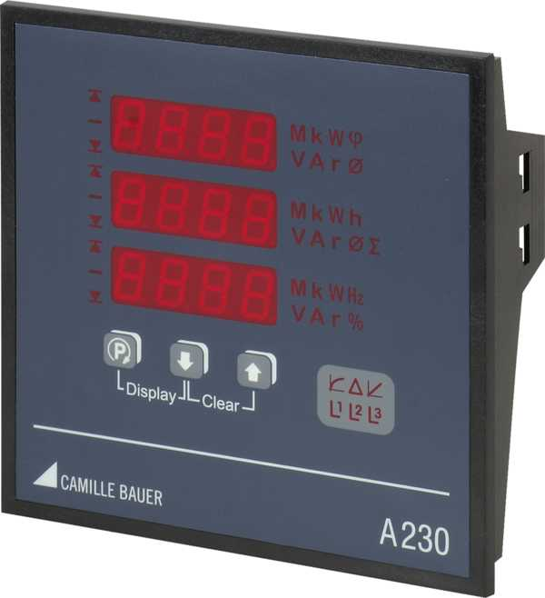 Multifunctional Power Monitor with System Analysis 144 x 144 mm