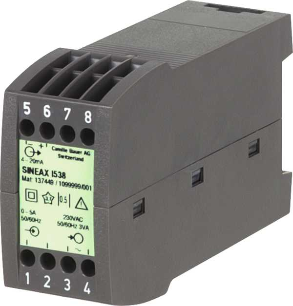 AC current transducer, with power supply