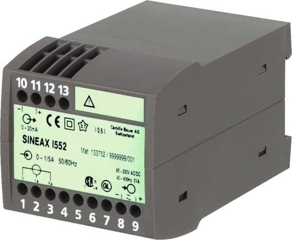 AC current transducer, effective value measurement