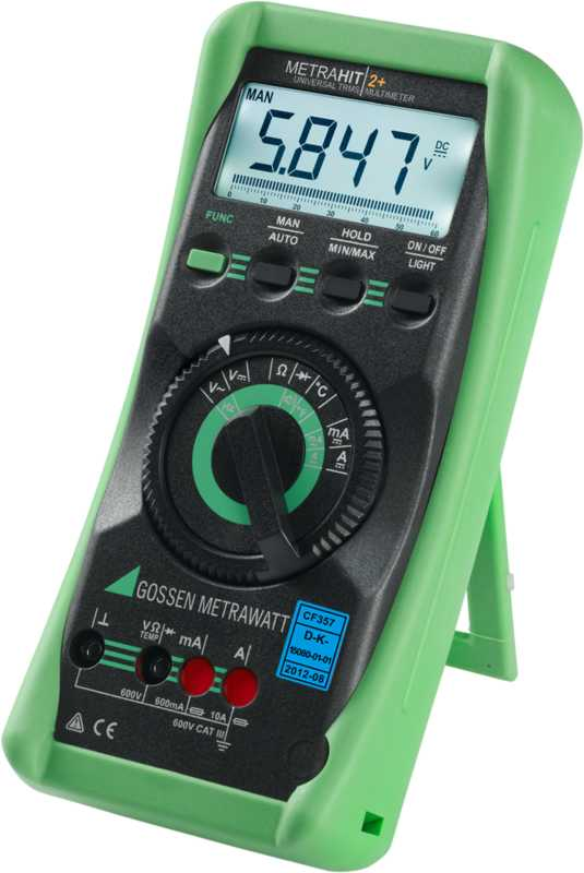 TRMS Digital Multimeter with Analog Bar Graph and Temperature Measuring Instrument