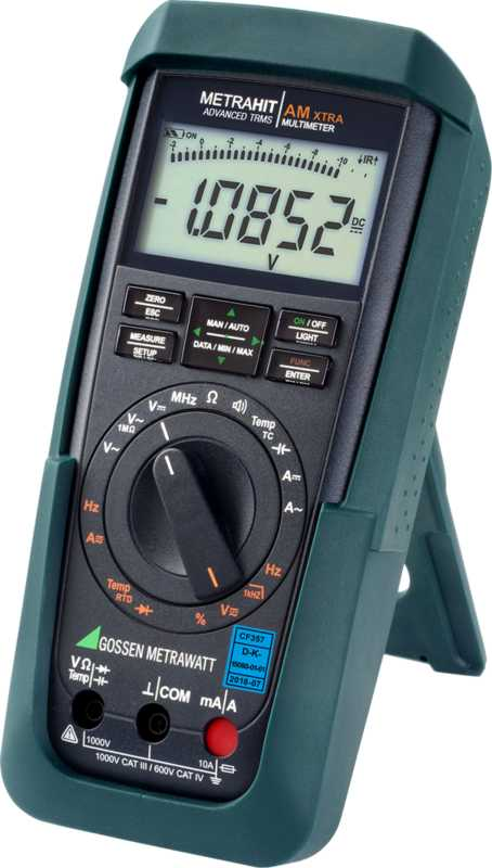 TRMS universal multimeter with digital display (12,000 digits) and current measuring ranges optimized for measuring transducers