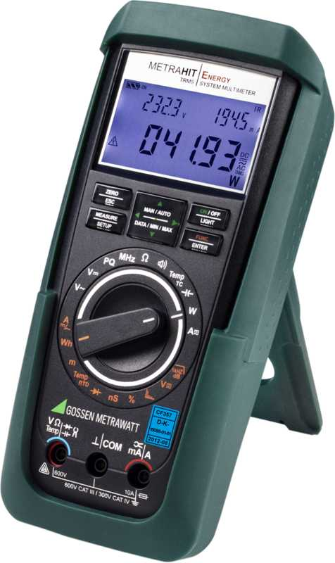 TRMS power multimeter and power quality analyzer with 60,000 digits