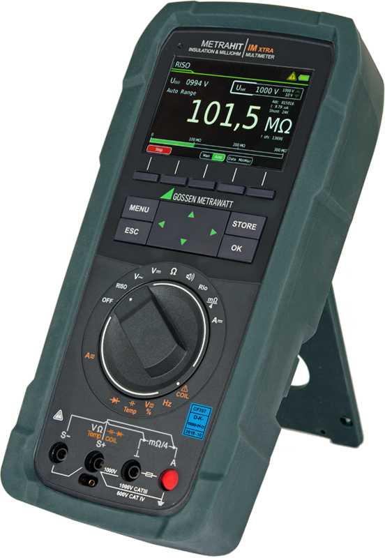 All-in-One: Multimeter and Milliohmmeter, Insulation Measuring Instrument, Coil Tester, Data Logger