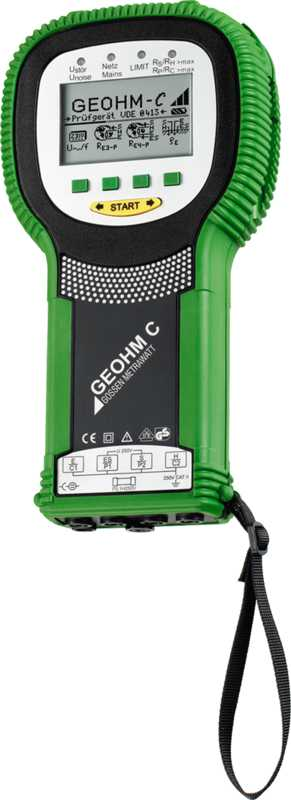 Battery Powered Earth Tester with Measurement of Soil Resistivity