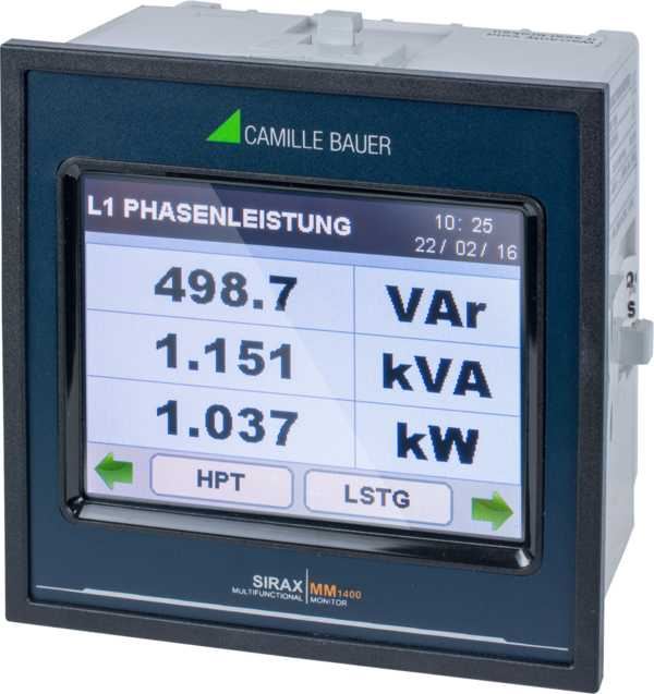 Programmable Unit for Heavy Current Monitoring with Display, TFT