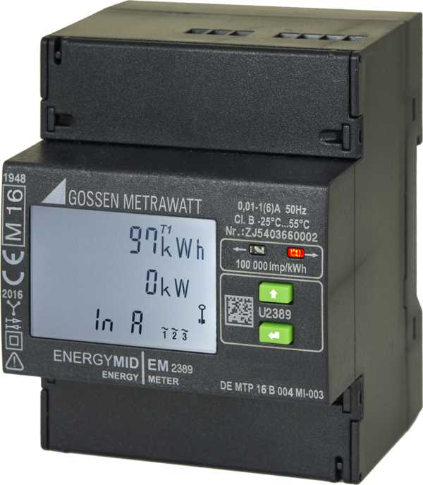 ENERGYMID – Multifunctional Energy Meter - 4-wire system and transformer connection 1 (6) A